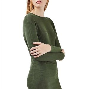 Topshop Batwing Midi Sweater Dress